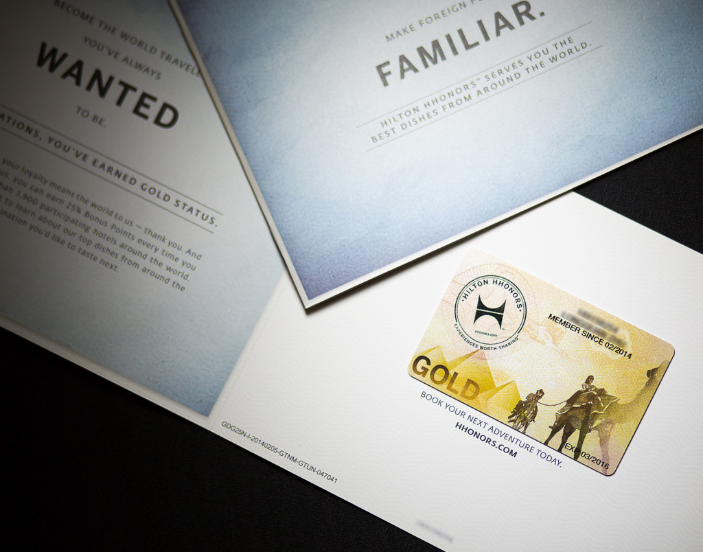 Get Hilton gold card directly by using visa infinite credit card缩略图