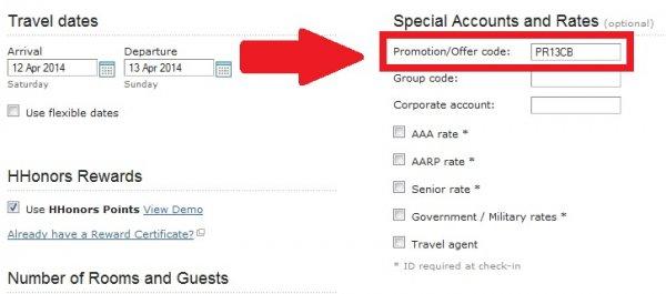 Hilton 32% To 43% Off Discount Code PR13CB缩略图